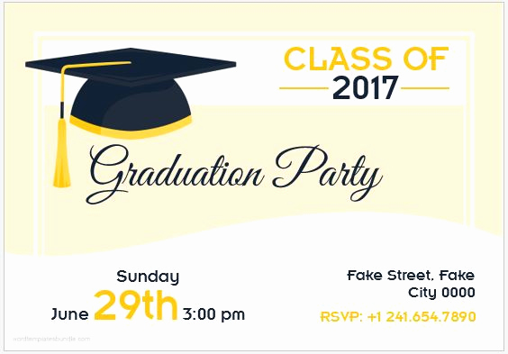 Graduation Invitation Cards Samples Beautiful 10 Best Graduation Party Invitation Card Templates Ms Word