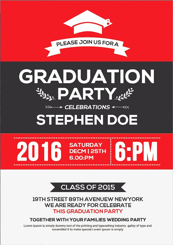 Graduation Invitation Cards Samples Best Of 48 Sample Graduation Invitation Designs & Templates Psd