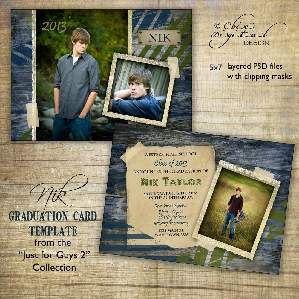 Graduation Invitation Cards Samples Inspirational Graduation Announcement Card Template for Photographers Just