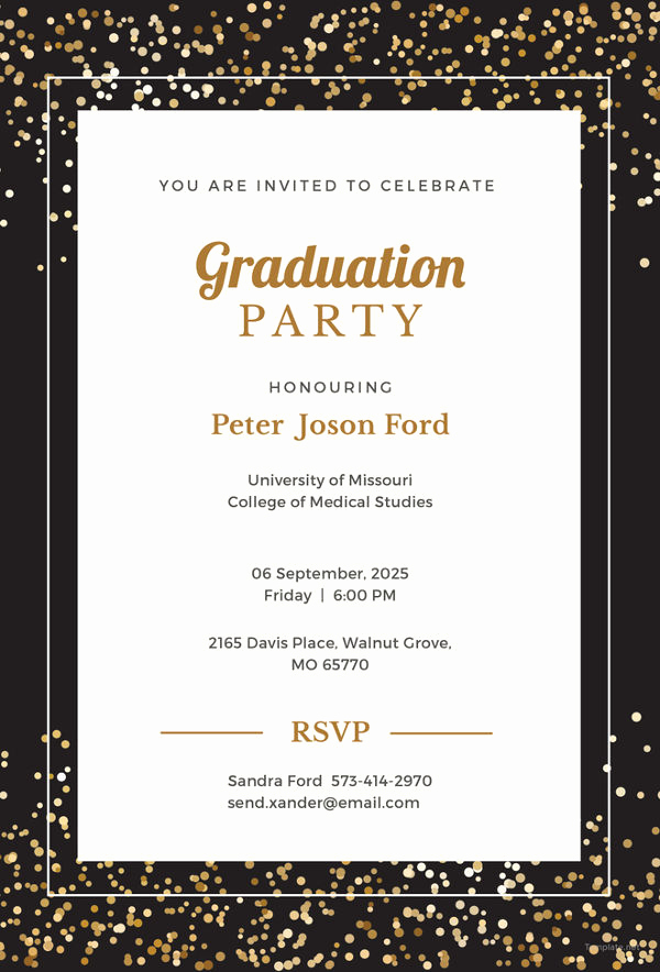 Graduation Invitation Cards Samples Lovely 19 Graduation Invitation Templates Invitation Templates
