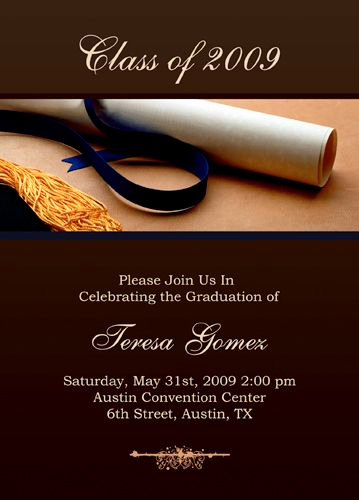 Graduation Invitation Cards Samples Lovely Free Graduation Invitation Templates for Word to Inspire