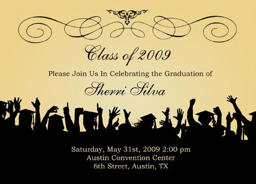 Graduation Invitation Cards Samples Lovely Free Graduation Templates S