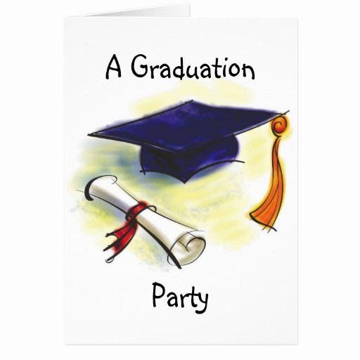 Graduation Invitation Cards Samples New Graduation Party Invitation Template Greeting Cards