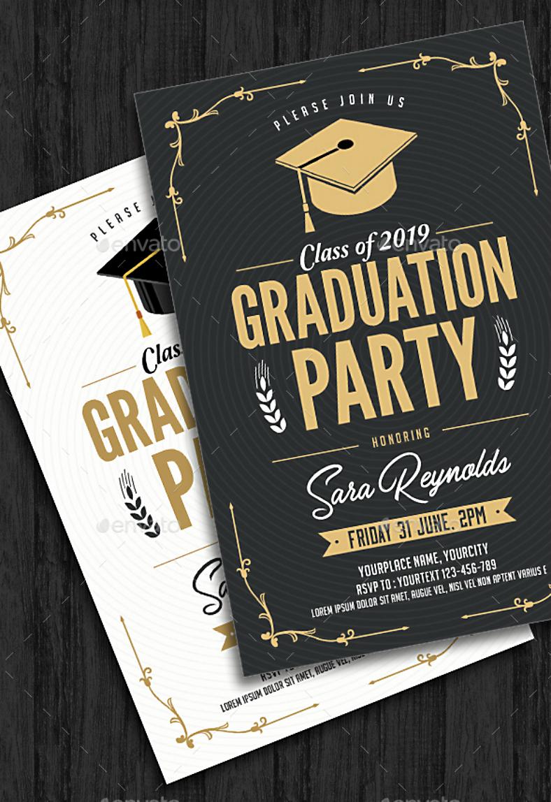Graduation Invitation Designs Free Awesome 11 Graduation Invitation Card Designs Psd Ai Word