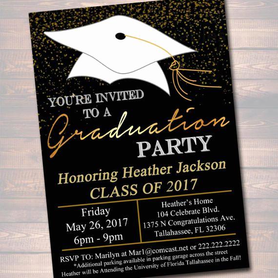 Graduation Invitation Designs Free Best Of Editable Graduation Party Invitation High School