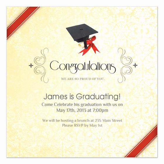 Graduation Invitation Designs Free Fresh Graduation Cap Invitations & Cards On Pingg
