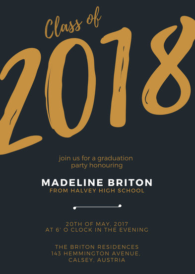 Graduation Invitation Free Templates Best Of Customize 66 Graduation Invitation Templates Online Canva