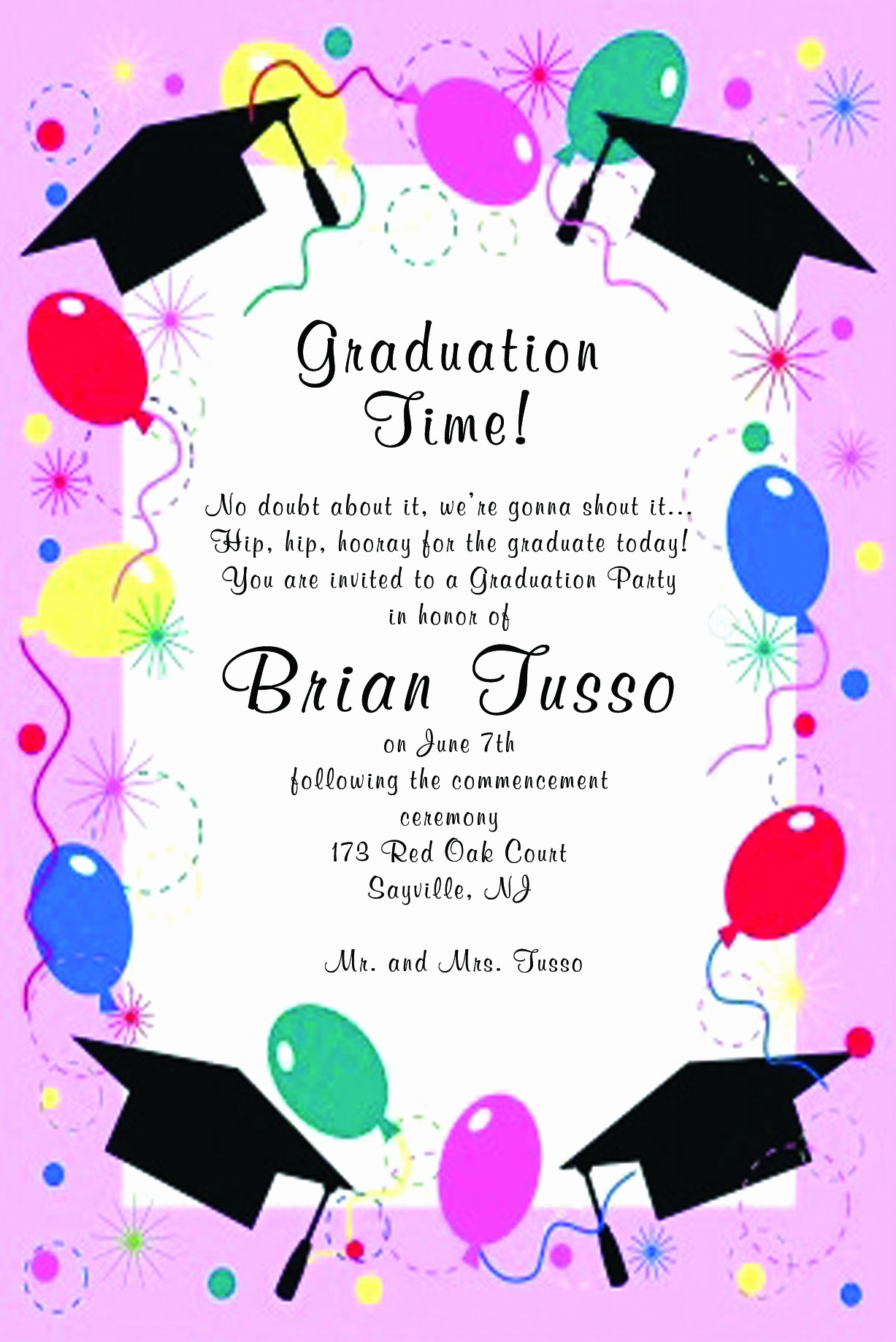 Graduation Invitation Free Templates Unique Graduation Invitation Template Graduation Invitation