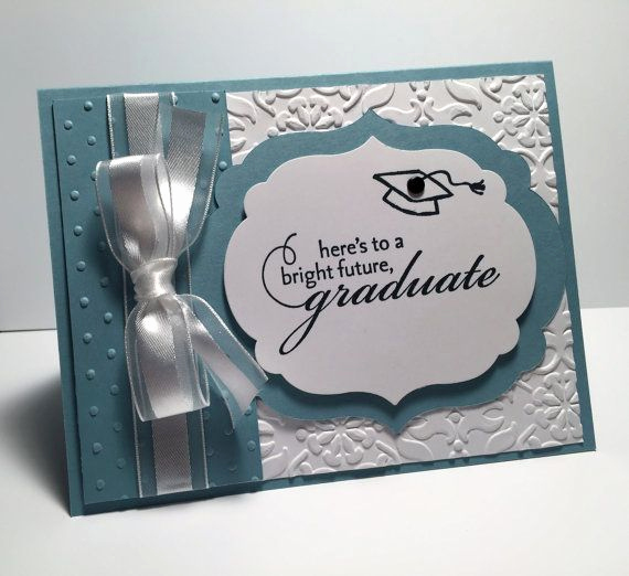 Graduation Invitation Ideas Homemade Beautiful Stampin Up Handmade Graduation Card Using Baja Breeze and