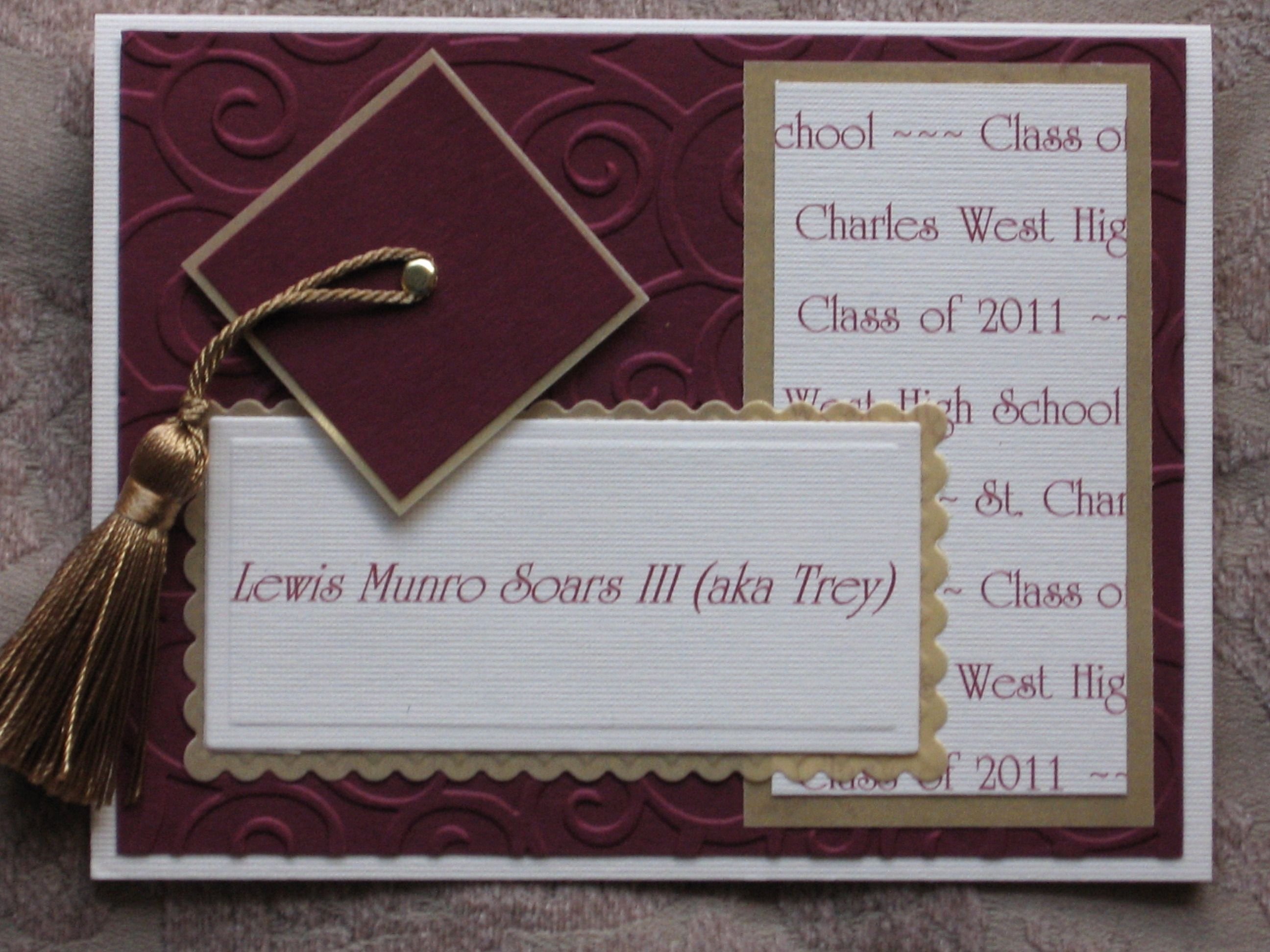 Graduation Invitation Ideas Homemade Inspirational Handmade Cards Embossing High School Graduation