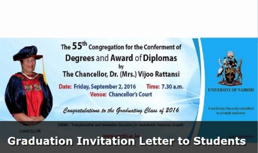 Graduation Invitation Letter Sample Inspirational Graduation Invitation Letter to Students