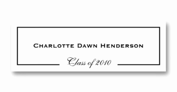 Graduation Invitation Name Cards Inspirational Graduation Announcement Name Card Border Class Of