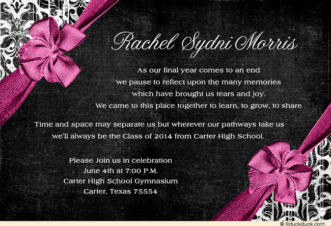 Graduation Invitation Quotes and Sayings Luxury 2014 Graduation Invitation Quotes Quotesgram