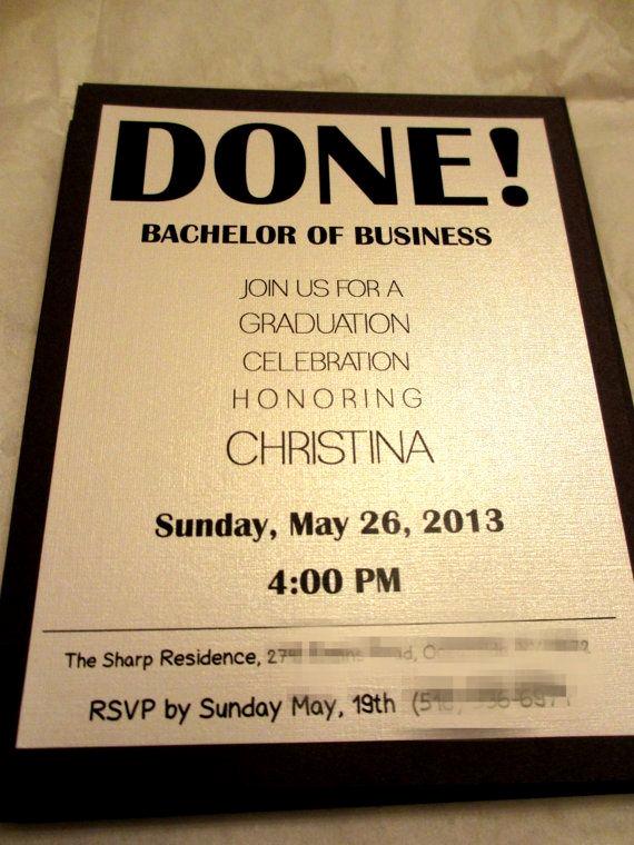 Graduation Invitation Quotes and Sayings Unique College Invitation Examples