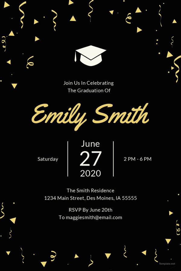 Graduation Invitation Template Free Awesome 19 Graduation Invitation Templates Invitation Templates