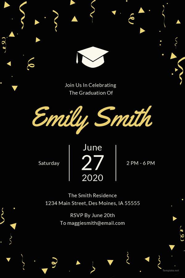 Graduation Invitation Template Free Awesome 19 Graduation Invitation Templates Invitation Templates