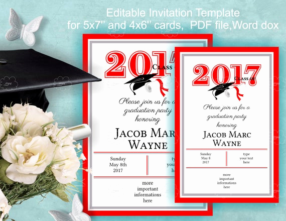 Graduation Invitation Template Word Elegant Graduation Invitation Template Download Edit Yourself