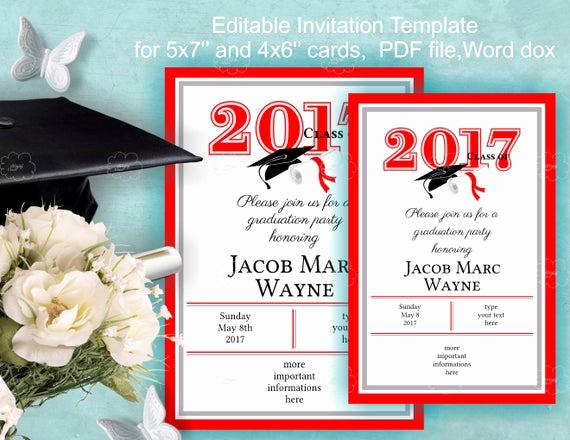 Graduation Invitation Template Word Elegant Graduation Invitation Template Download Edit Yourself