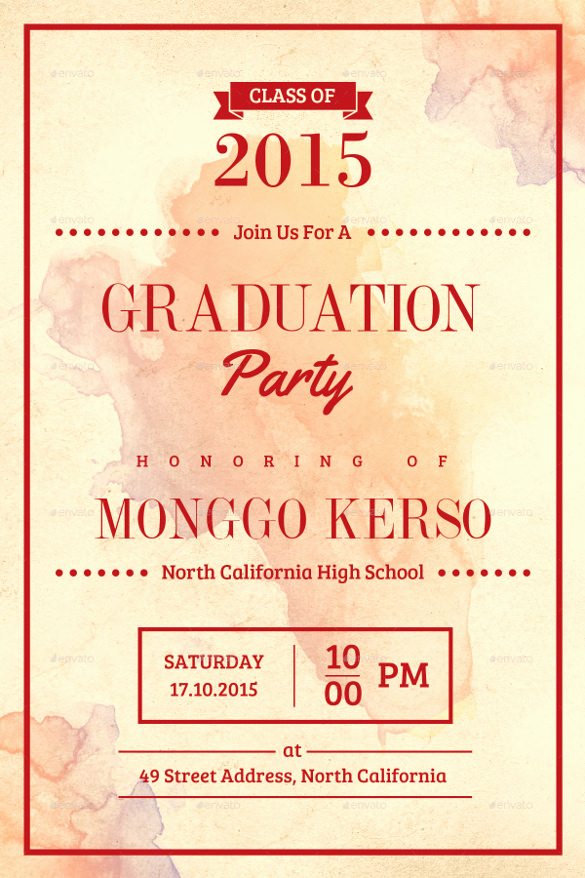 Graduation Invitation Templates 2016 Beautiful 35 Graduation Invitation Templates Psd Ai Word