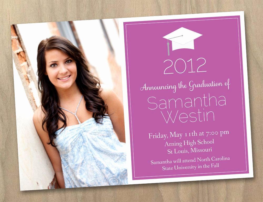 Graduation Invitation Templates 2016 Beautiful Graduation Invitation Templates with Photo