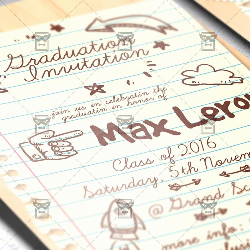 Graduation Invitation Templates 2016 Best Of Graduation Invitation – Premium Psd Flyer Template