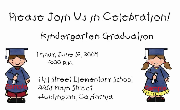Graduation Invitation Templates 2016 Fresh Kindergarten Graduation Invitation Template