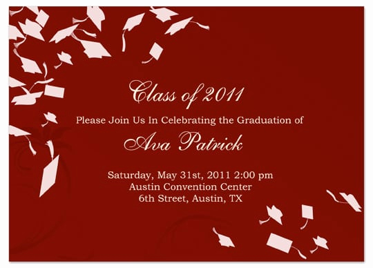 Graduation Invitation Templates 2016 Inspirational Graduation Invitation Template