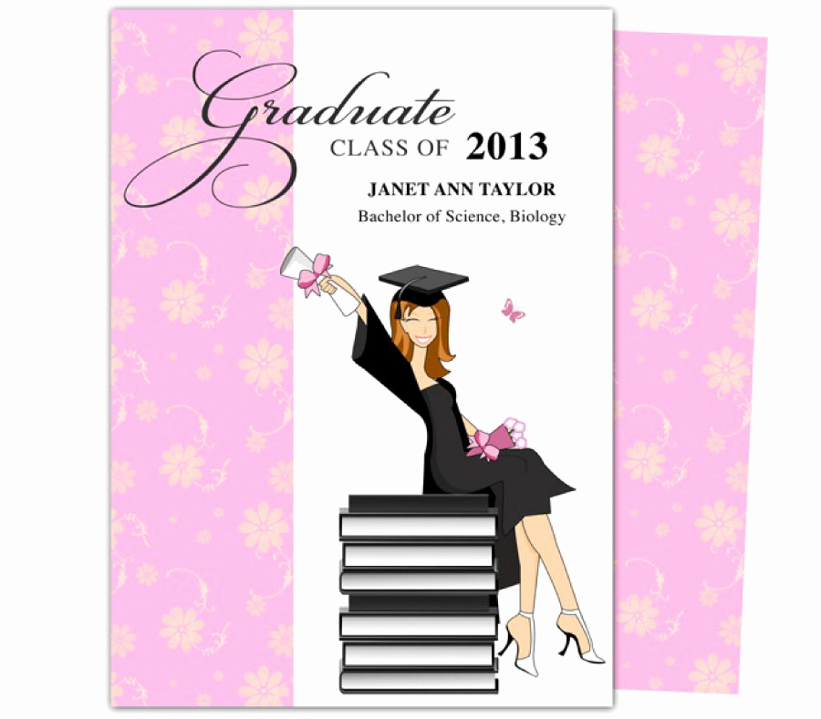 Graduation Invitation Templates Free Download Lovely 40 Free Graduation Invitation Templates Template Lab