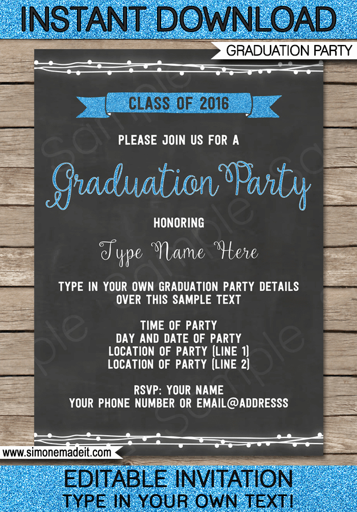 Graduation Invitation Templates Free Download Luxury Graduation Invitations