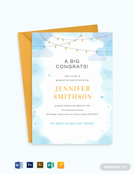 Graduation Invitation Templates Free Download Unique Free Graduation Invitation Template Download 651