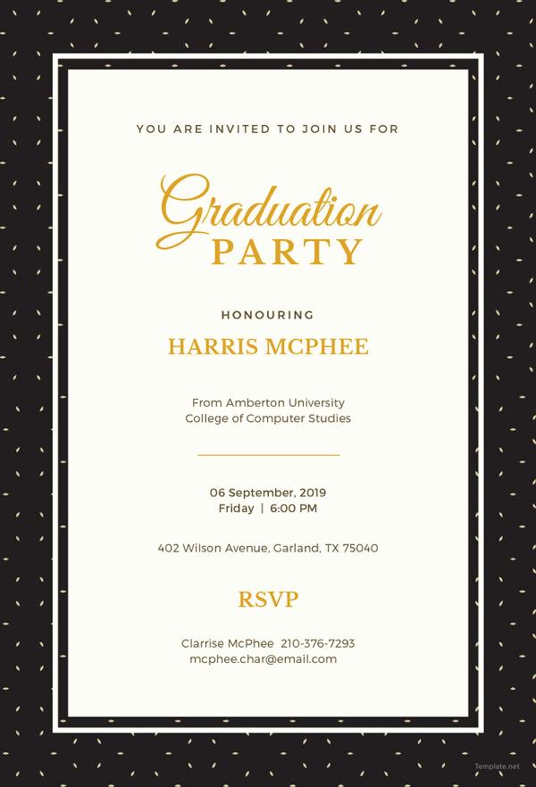 Graduation Invitation Templates Free Elegant 19 Graduation Invitation Templates Invitation Templates