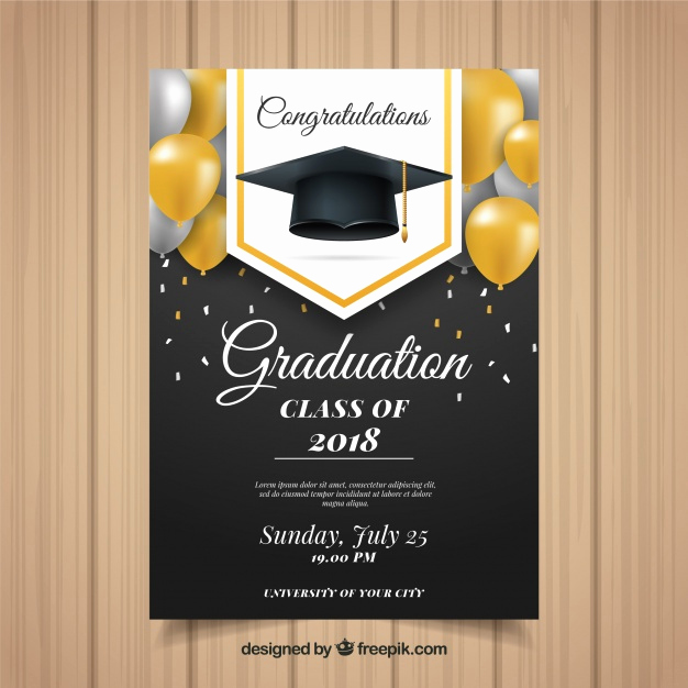 Graduation Invitation Templates Free Luxury Classic Graduation Invitation Template with Realistic