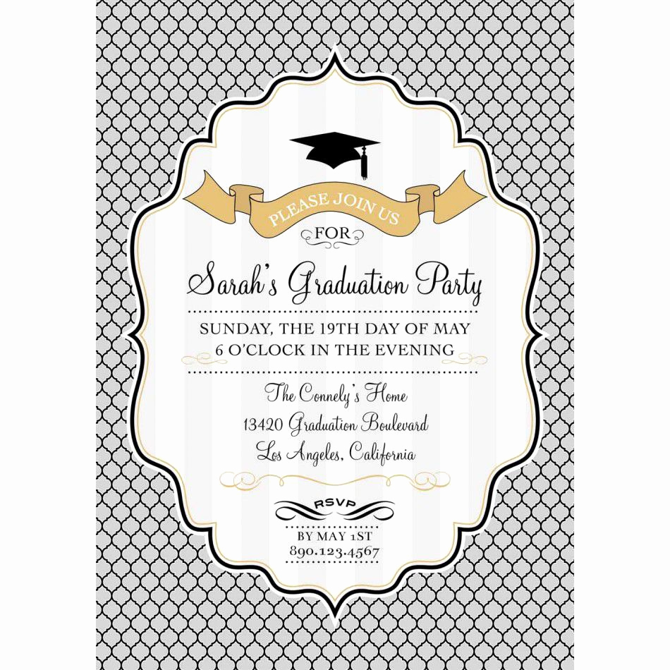 Graduation Invitation Templates Free Unique Card Template Graduation Invitation Template Card