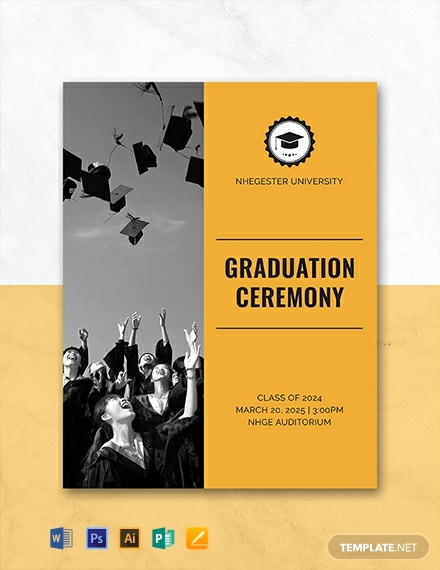 Graduation Invitation Templates Microsoft Publisher Elegant Free Graduation Programs Template Download 31 Program