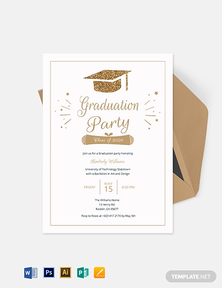 Graduation Invitation Templates Microsoft Publisher Lovely Graduation Invitation Template Download 227 Invitations