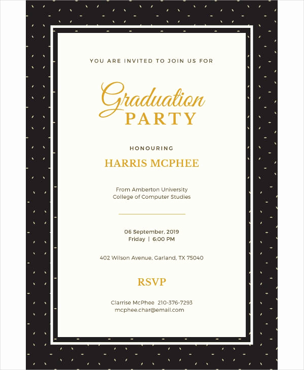 Graduation Invitation Templates Microsoft Publisher New 11 High School Graduation Invitation Designs & Templates