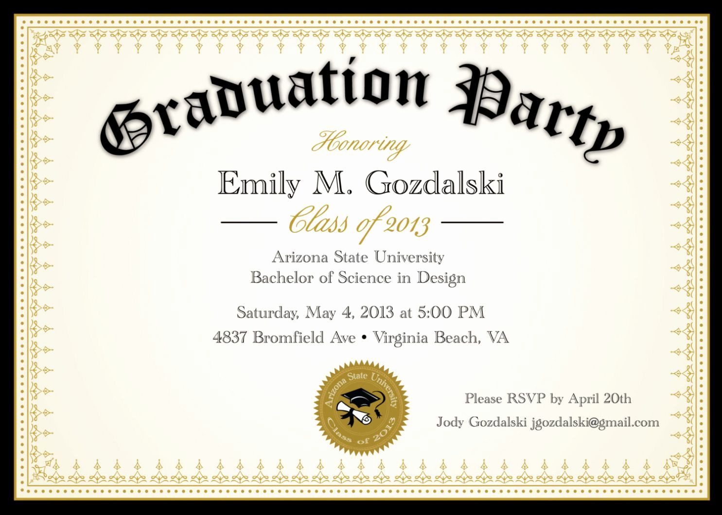 Graduation Invitation Templates Microsoft Publisher Unique Graduation Party Invitation Template Graduation Party