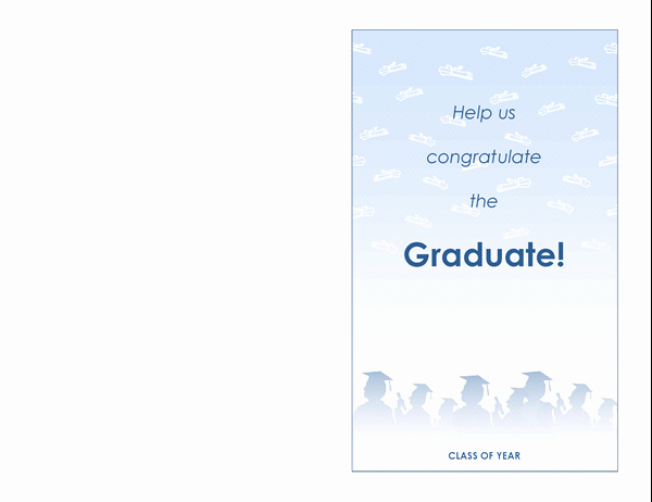 Graduation Invitation Templates Microsoft Word Fresh Graduation Party Invitation Graduation Party Design Half