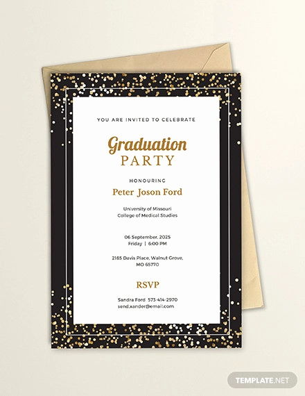 Graduation Invitation Templates Microsoft Word Lovely 35 Graduation Invitation Templates Psd Ai Word