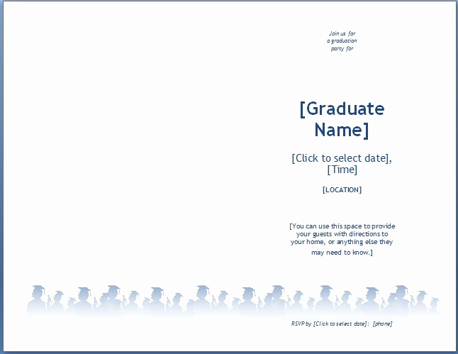 Graduation Invitation Templates Microsoft Word New Ms Word Graduation Party Invitation Template