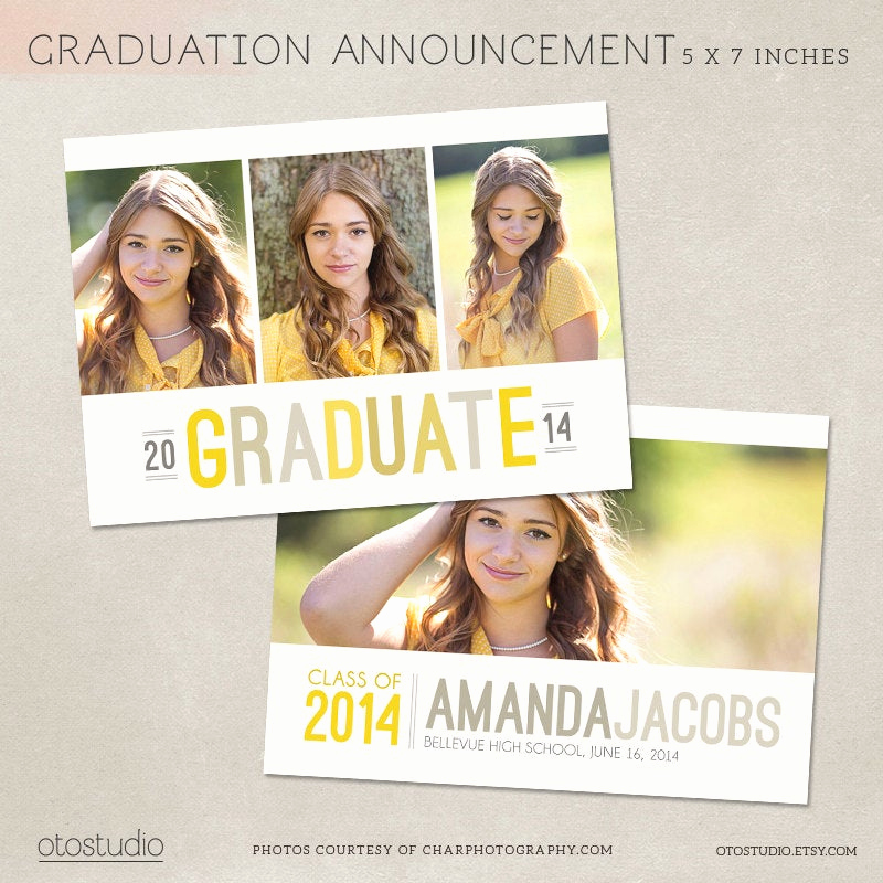Graduation Invitation Templates Photoshop Awesome Graduation Announcement Template Shop Photo Card