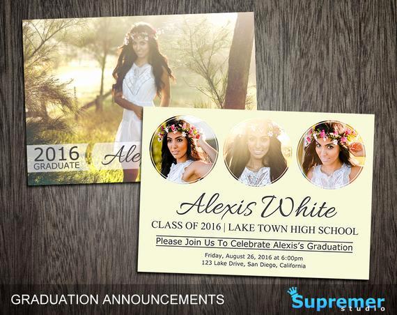 Graduation Invitation Templates Photoshop Beautiful Graduation Announcements Templates Graduation Card Templates
