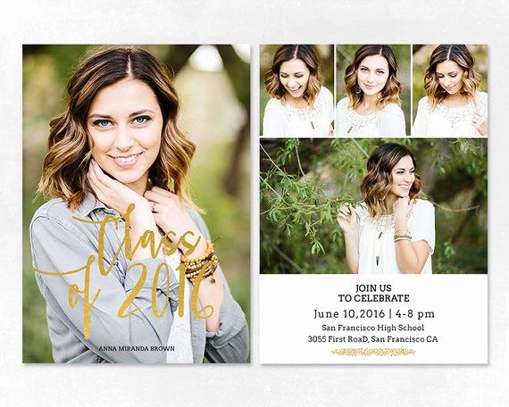 Graduation Invitation Templates Photoshop Beautiful Senior Graduation Announcement Template for by Salsaldesign