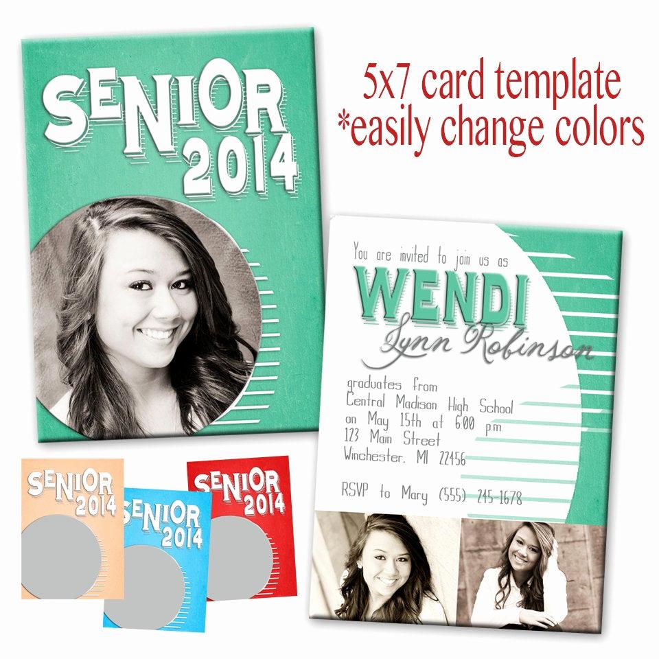 Graduation Invitation Templates Photoshop Best Of Psd Senior Graduation Invitation Card Photoshop Template for
