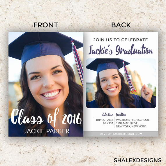 Graduation Invitation Templates Photoshop Best Of Senior Graduation Template Graduation Invitation Template