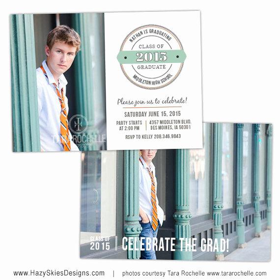 Graduation Invitation Templates Photoshop Fresh Items Similar to Senior Graduation Announcement Card