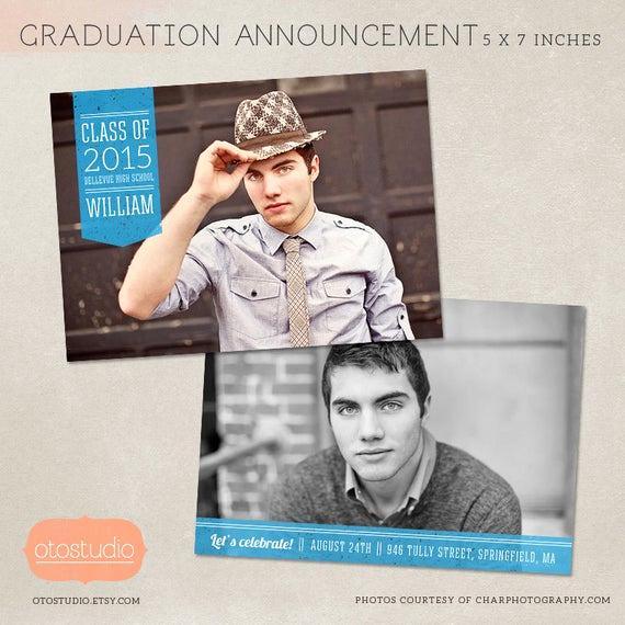 Graduation Invitation Templates Photoshop Lovely Graduation Announcement Template Shop Photo Card