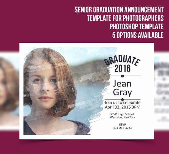 Graduation Invitation Templates Photoshop Lovely Senior Graduation Announcement Template Grapher