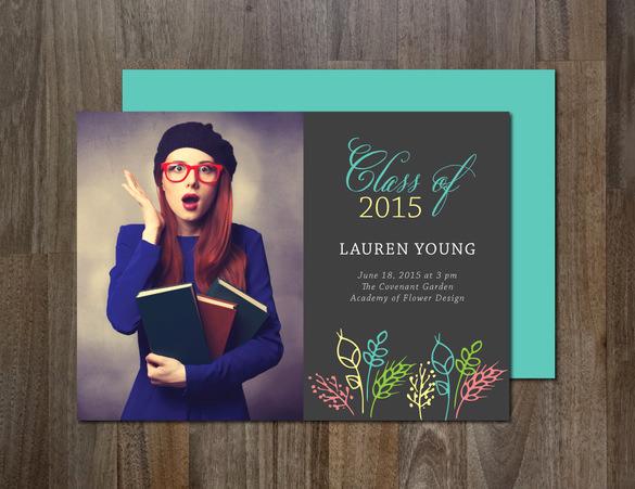 Graduation Invitation Templates Photoshop Luxury 20 Fantastic Psd Graduation Announcement Templates