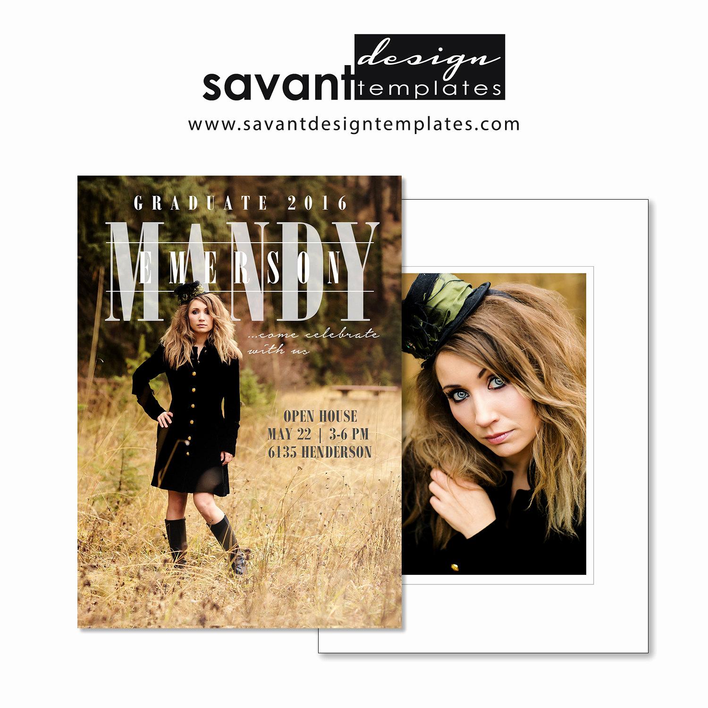 Graduation Invitation Templates Photoshop Luxury 5x7 Graduation Announcement Shop Templates Graphy
